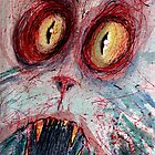 scared zombie cat by byronrempel