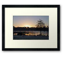 Dawn Glow Framed Print