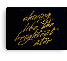 Shining Like The Brightest Star #2 Canvas Print
