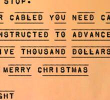 Hee Haw and Merry Christmas, Sam Wainwright Sticker