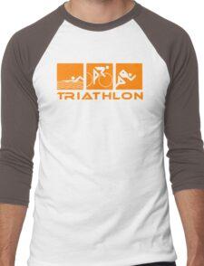 Triathlon modern icons Men's Baseball ¾ T-Shirt