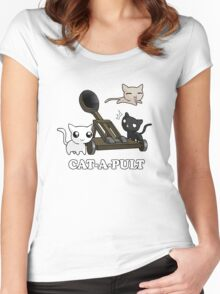 Cat-a-pult Women's Fitted Scoop T-Shirt