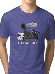 Cat-a-pult Tri-blend T-Shirt
