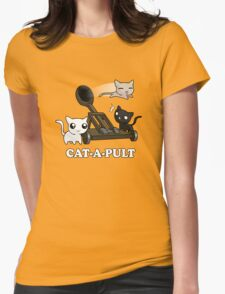 Cat-a-pult Womens Fitted T-Shirt