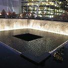 9/11 Memorial, Waterfall and Pool, Ground Zero, Lower Manhattan, New York by lenspiro