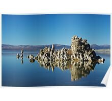 Tufa formation Mono Lake, California Poster