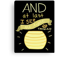 Tangled- And At Last I See the Light  Canvas Print