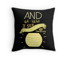 Tangled- And At Last I See the Light  Throw Pillow