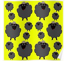 A whole herd of Black Sheep Poster