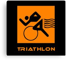 Triathlon one logo Canvas Print