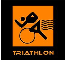 Triathlon one logo Photographic Print
