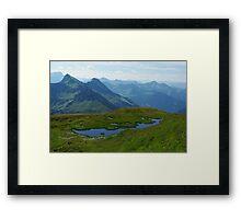 Mountain pond with a view near Furkajoch, Austria Framed Print