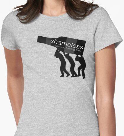 Shameless-fuck you fucking fuck Womens Fitted T-Shirt