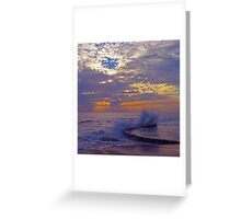 Sunset Splash at Victoria Beach Greeting Card