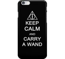 Harry Potter: Keep Calm and Carry a Wand - Iphone Case  iPhone Case/Skin