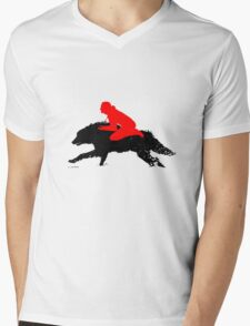 The Boy Who Runs With Wolves Mens V-Neck T-Shirt