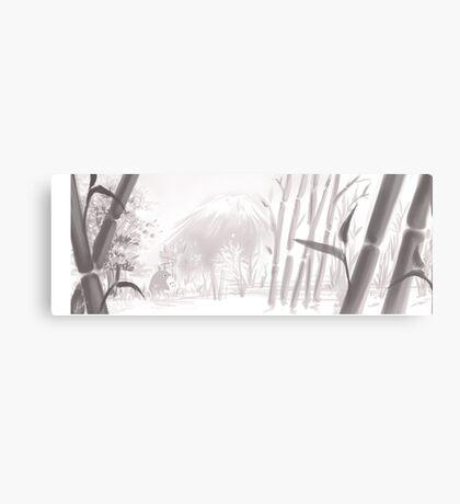 Totoro sumi-e Canvas Print