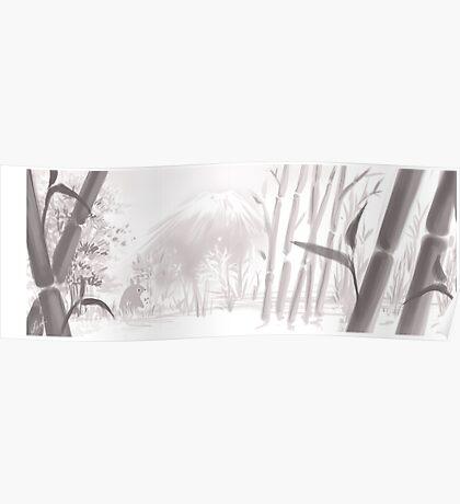Totoro sumi-e Poster