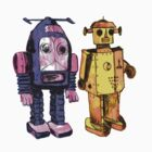 ROBOTS -BILL AND PHIL -(LARGER IMAGE) by KERRY  LENNON