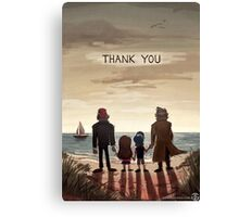 Gravity Falls - Thank You (WITH Words) Canvas Print