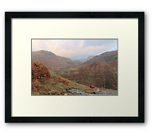 Autumn In The Little Langdale Valley Framed Print