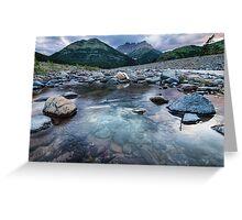 Waterton Rivers Greeting Card