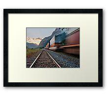 Along Kicking Horse Pass Framed Print