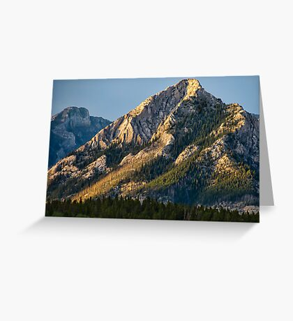 Yellow Mountain Top Greeting Card