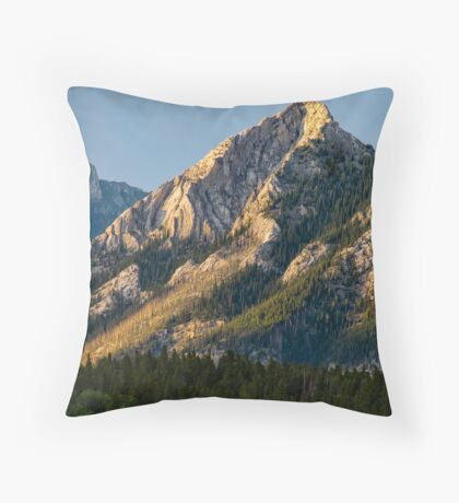 Yellow Mountain Top Throw Pillow