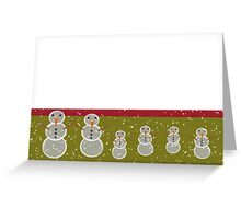 Merry Christmas happy holidays card with snowmen Greeting Card