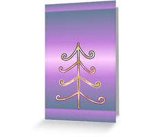 Merry Christmas happy holidays card with christmas tree Greeting Card