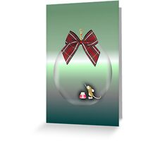 Merry Christmas happy holidays card with christmas mouse inside bauble Greeting Card