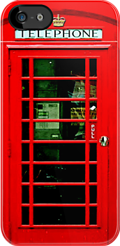 British Red Phone Booth - iphone 5, iphone 4 4s, iPhone 3Gs, iPod Touch 4g case by www. pointsalestore.com