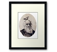 Darwin and the Finch Framed Print