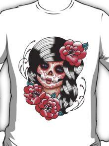 Day of the Dead Sugar Skull Girl Tattoo Flash Shirt T-Shirt