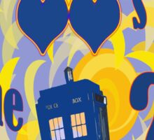 A Whovian Riddle! Sticker