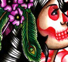 Dia De Los Muertos Gypsy Girl Sticker