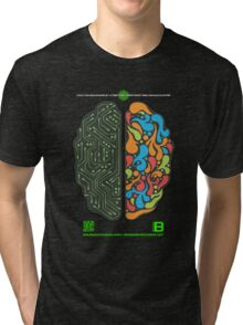 DEC 2012 MERCH LEFT RIGHT HEMISPHERE VISUALLY EXPLAINED Tri-blend T-Shirt