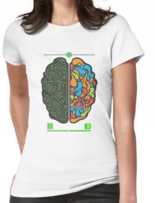 DEC 2012 MERCH LEFT RIGHT HEMISPHERE VISUALLY EXPLAINED Womens Fitted T-Shirt