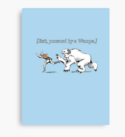 William Shakespeare's Star Wars: Exit, pursued by Wampa Canvas Print