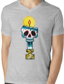 Muerte Candle - Day of the Dead Tattoo Flash Mens V-Neck T-Shirt
