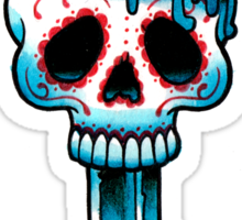 Muerte Candle - Day of the Dead Tattoo Flash Sticker