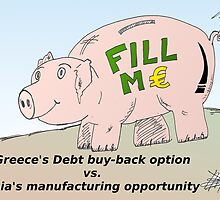 Piggybank business comic strip panel by Binary-Options