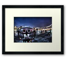 Robot Views Framed Print