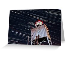 Harbor Light Startrails Greeting Card