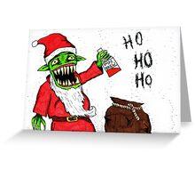 Evil Santa/Father Christmas Greeting Card