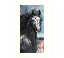 Dark Horse at Night Art Print