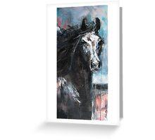 Dark Horse at Night Greeting Card