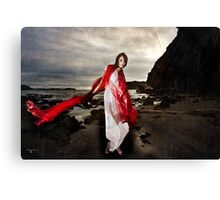 A dance of the blude red veil Canvas Print