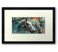 The noble horse and his alter ego Framed Print